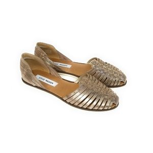 STEVE MADDEN Hillarie Gold Sparkly Flats Size 8.5